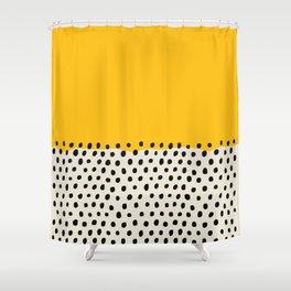 Mid Century Abstract Print, Sunset Art, Living Room Decor, Colour Field, Modernist Modern Art, Colou Shower Curtain
