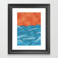 The Blue Sea Framed Art Print