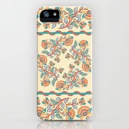 Square decorative design. Indian style. Kalamkari. iPhone Case