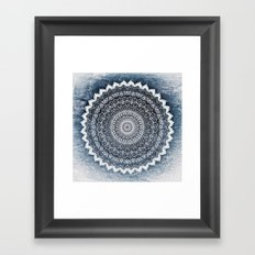 COLD WINTER MANDALA Framed Art Print