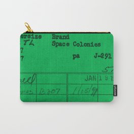 Library Card 797 Green Carry-All Pouch