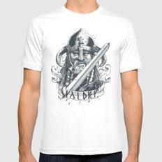 Raider (Viking) LARGE White Mens Fitted Tee