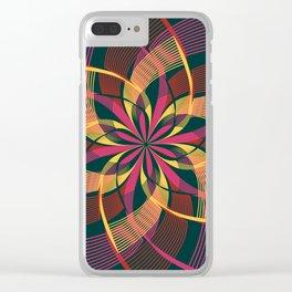 Bohemian Style Moody Colors, Yoga Love Mandala Clear iPhone Case