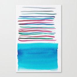 22  |181026 Lines & Color Block | Watercolor Abstract | Modern Watercolor Art Canvas Print