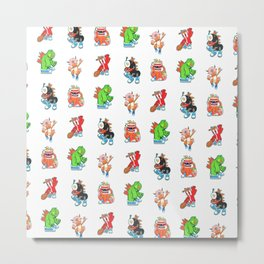 Kaiju Food Monsters Pattern #2 Metal Print