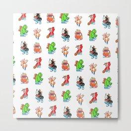 Kaiju Food Monsters Pattern #2 Metal Print