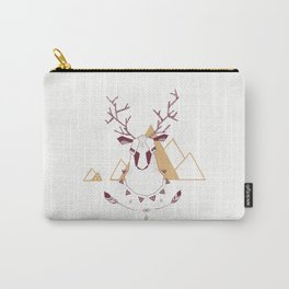 Christmas Geo Deer 2 Carry-All Pouch