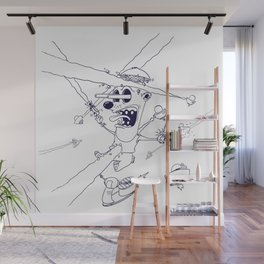 Death From Outer Space - lineart Wall Mural