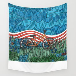 Independence Day Bike Wall Tapestry