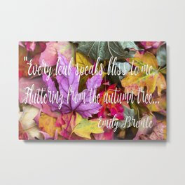 Fall Feels from Emily Bronte Metal Print
