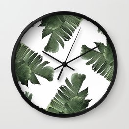 Banana Leaf Frenzy #society6 Wall Clock