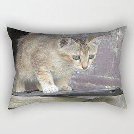 Cute Indian Kitten Baby Cat Portrait Rectangular Pillow