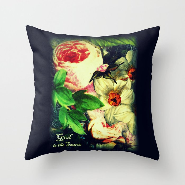 God is the Source Throw Pillow