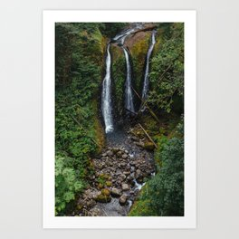 Triple Falls Art Print