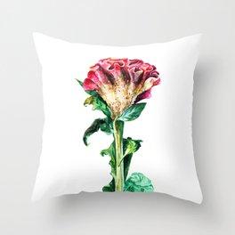 Pink Celosia Throw Pillow