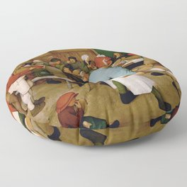 Peasant Wedding Bruegel Floor Pillow
