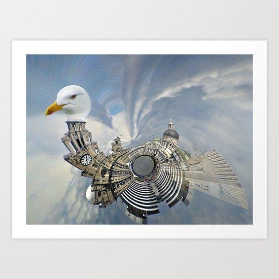 The Liver Bird Art Print