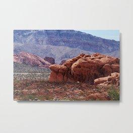 Valley of Fire Rocks Metal Print