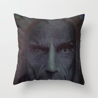 iggy pop Throw Pillows featuring iggy pop by odinelpierrejunior