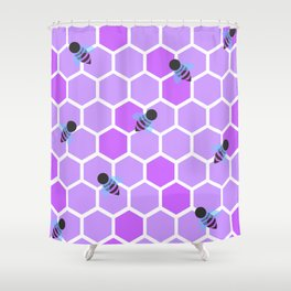 Oh Honey in Purple Shower Curtain