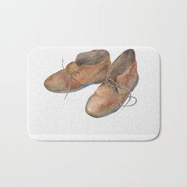 Old Desert Boots Bath Mat