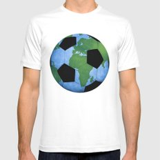 The World Of Soccer MEDIUM Mens Fitted Tee White