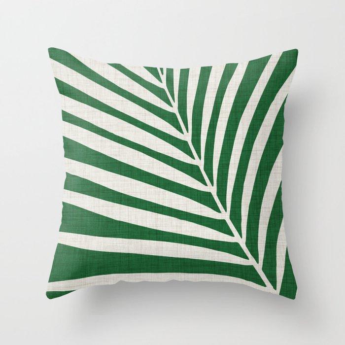 Minimalist Palm Leaf Deko-Kissen