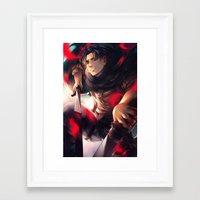levi Framed Art Prints featuring Levi by 1MI0