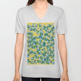 Summer Flowers Yellow Unisex V-Neck