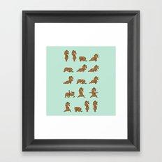 Yoga Bear Framed Art Print
