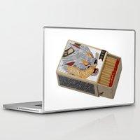 shit Laptop & iPad Skins featuring Burn Shit. by NVM Illustration