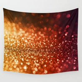 Fire and flames - Red and yellow glitter effect texture Wall Tapestry