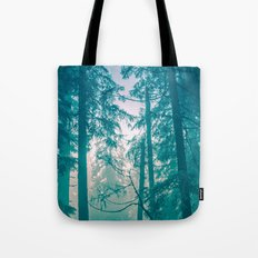 Nature Forest - Misty Turquoise Woods Tote Bag