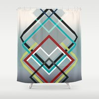 diamonds Shower Curtains featuring Diamonds by AJJ ▲ Angela Jane Johnston