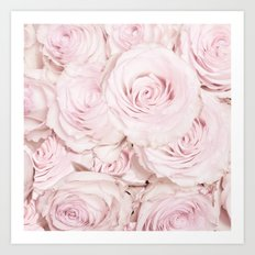 Roses have thorns- Pink Rose Flowers Art Print