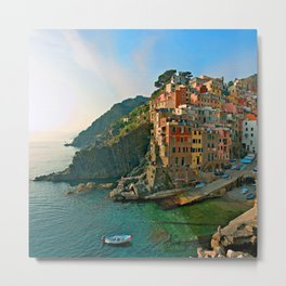 Italy. Cinque Terre - Canal side Metal Print