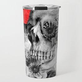 Fire in the dark, nature skull Travel Mug