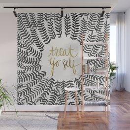 Treat Yo Self – Black & Gold Wall Mural