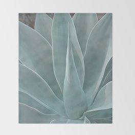 Azul Agave Plant Throw Blanket