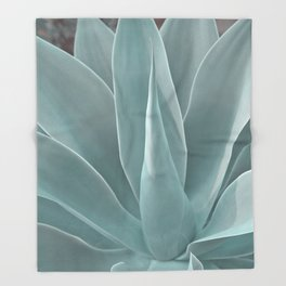 Azul Succulent Agave Plant Throw Blanket