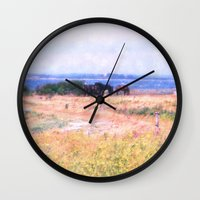 horses Wall Clocks featuring Horses  by Truly Juel