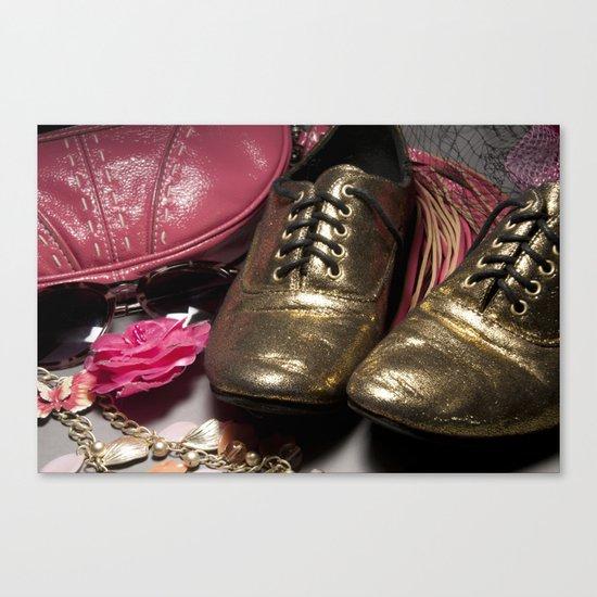 Shoe ad composition 2 Canvas Print