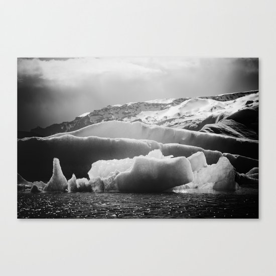 The Serenity of Icebergs Canvas Print