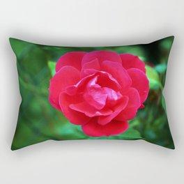 Pink Fall Rose Rectangular Pillow