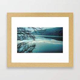 Italian landscapes - Levico lake Framed Art Print