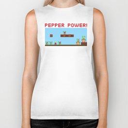 Pepper Power!  8-bit Biker Tank