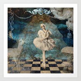 Snow queen Art Print
