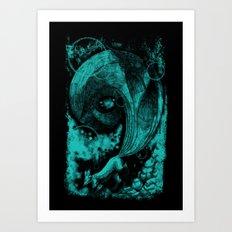 9 tails Art Print