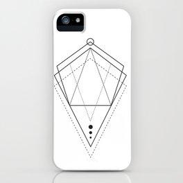 Hologram geometry white iPhone Case