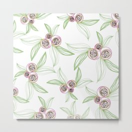 zipper floral Metal Print